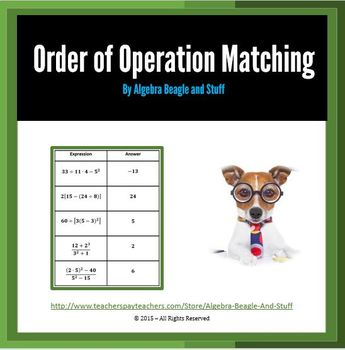 Order of Operaton Matching Activity