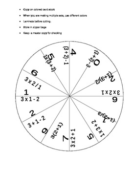 Order of operations- As easy as 1, 2, 3.......(Pie puzzle)