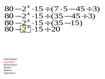 Order of operations - Basic