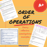 Distance Learning - Order of operations - course pack
