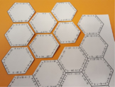 Order of operations hexagon puzzle + - ∙ ÷ ( )