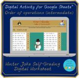 Order of operations (intermediate) Self-Grading Digital Codebreaker worksheet