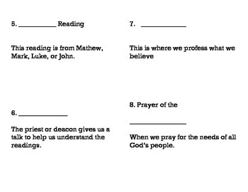 Order of the Mass Booklet