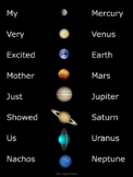 Order of the Planets Poster & Puzzle {Free}