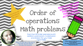 Order operations Booklet!