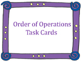 Order of Operations Task Cards *FREEBIE*