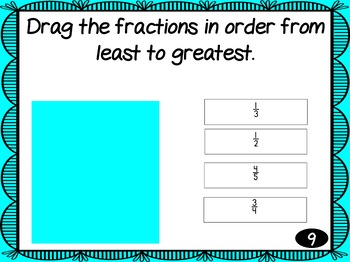 Order the Fractions and Decimals TEI Click and Drag