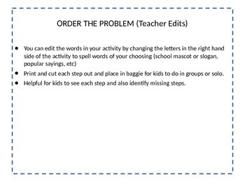 Order the Steps - Distributive Property and Combining Like Terms