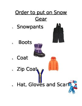 Order to put on Snow Gear