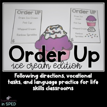 Order up! Cupcakes: Following Directions  & Vocational Skills