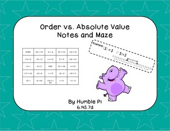 Order vs Absolute Value Notes and Maze- 6.NS.7d