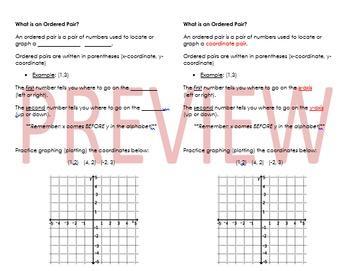 Ordered Pair/Coordinate Pair Notes