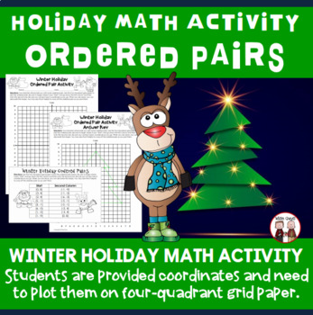 Christmas Ordered Pair Graphing Coordinates Math Activity