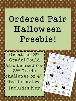 Ordered Pair Halloween Freebie!