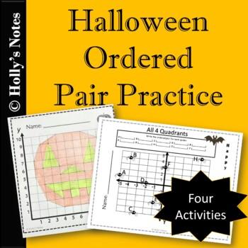 Ordered Pair Practice - Halloween Theme