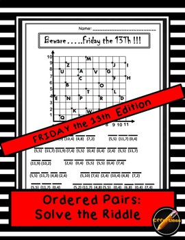 Ordered Pair : Solve the Riddle - Friday the 13th Theme
