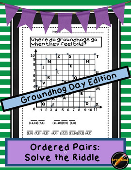 Ordered Pair Solve the Riddle Groundhog Day