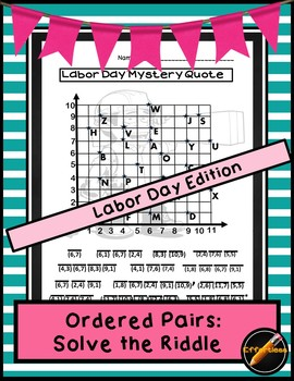 Ordered Pair: Solve the Riddle Labor Day