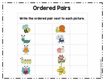 Ordered Pairs Bundle Ordered Pairs and Scavenger Hunt