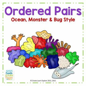 Ordered Pairs  Ocean, Monster & Bug Style