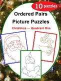 Ordered Pairs Mystery Picture Puzzles (Quadrant One - Christmas)