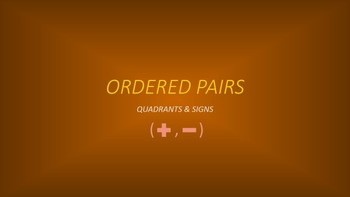 Ordered Pairs: Quadrants & Signs