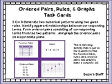 Ordered Pairs, Rules, & Graphs Task Cards for 5th Grade