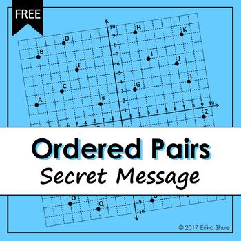Ordered Pairs Secret Message by Erika Shue | Teachers Pay Teachers