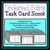 Ordered Pairs Task Card Scoot