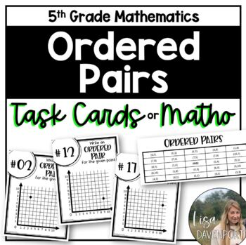 Ordered Pairs (Task Cards & MATHO)