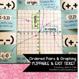 Ordered Pairs Four Quadrant and One Quadrant Flippables & Exit Tickets