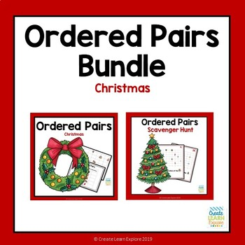 Ordered Pairs and Scavenger Hunt Christmas Themed Bundle