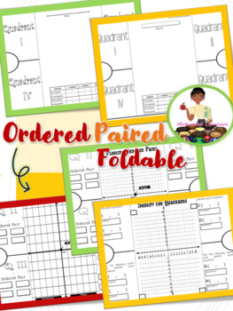 Ordered Pairs on Coordinate Plane Foldable Graphic Organizer