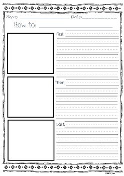 Ordered Writing Templates