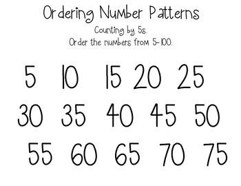 Ordered number patterns