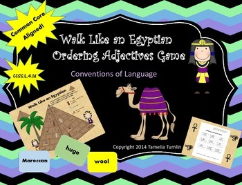 Ordering Adjectives (Walk Like an Egyptian Conventions of Language Game)