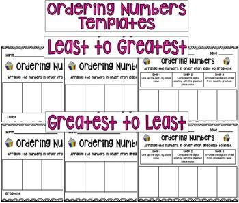 Ordering 2-Digit Numbers Cupcake Activities!