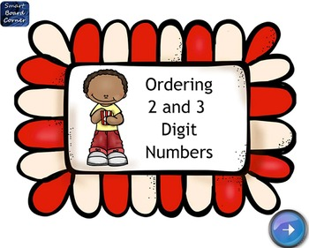 Ordering 2 and 3 Digit Numbers SMART Board Lesson
