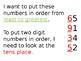 Ordering 2 digit numbers