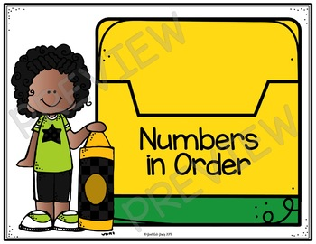 Ordering 3 Digit Numbers Crayons in My Box