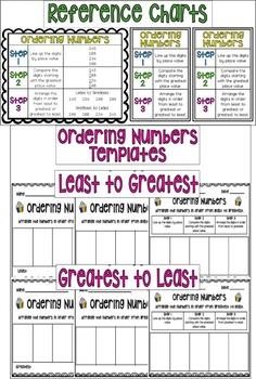 Ordering 3-Digit Numbers Cupcake Activities!