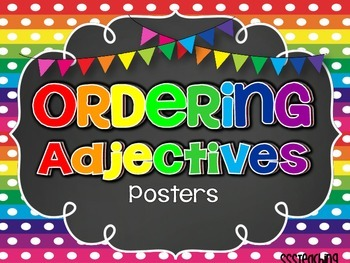 Ordering Adjective Posters