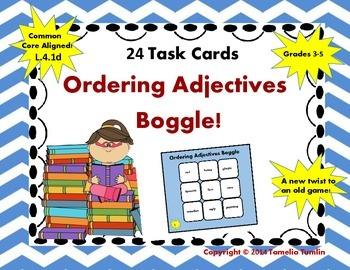 Ordering Adjectives BOGGLE! Common Core Aligned!