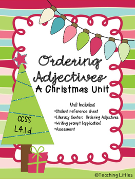 Ordering Adjectives Christmas Pack
