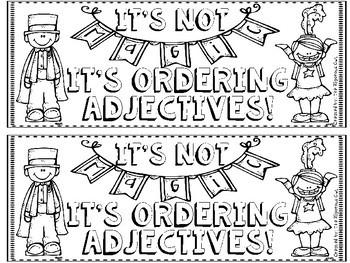 Ordering Adjectives Craftivity
