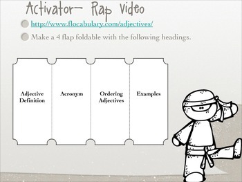 Ordering Adjectives: Interactive PowerPoint