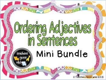 Ordering Adjectives Mini Bundle