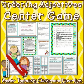 Ordering Adjectives Packet {CCSS 4.L.1d}