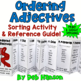 Ordering Adjectives Sorting Activity & Reference Guide