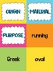 Ordering Adjectives Sorting Game Activity- 4th Grade Common Core Aligned